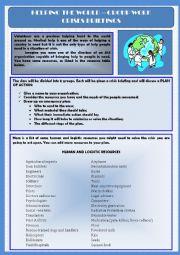 English Worksheet: Volunteering - Helping the World - Crises briefings