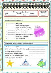 English Worksheet: suggestions 1