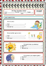 English Worksheet: suggestions 2