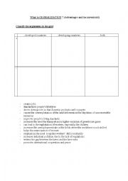 English Worksheet: Globalization : what is it ?