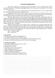 English Worksheet: INSIDE BUCKINGHAM PALACE