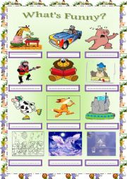 English Worksheets: What�s Funny?