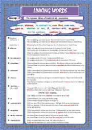English Worksheet: LINKING WORDS (Conjunctions + Adverbs) Page - 04