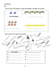 Classroom Objects,colors,numbers