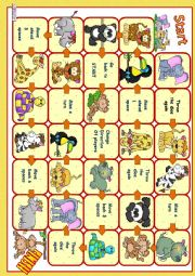 Boardgame - wild animals