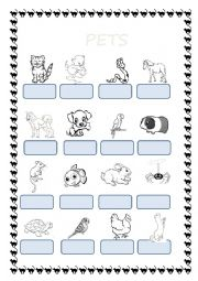 English Worksheet: pets