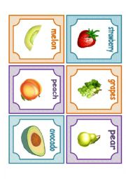 English Worksheet: fruits flashcards