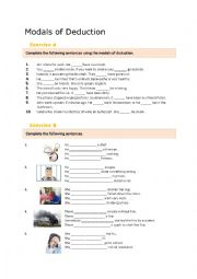 English Worksheet: Modals of Deduction - Controlled Practice