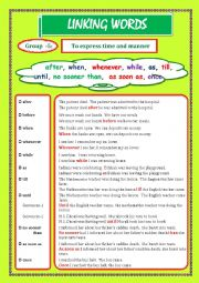 English Worksheet: LINKING WORDS (Conjunctions + Adverbs) Page - 06