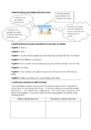English Worksheet: making and responding to complaint