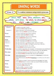 English Worksheet: LINKING WORDS (Conjunctions + Adverbs) Page - 07