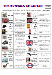 English Worksheet: The symbols of London - Pair Work