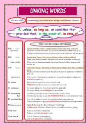 English Worksheet: LINKING WORDS (Conjunctions + Adverbs) Page - 08