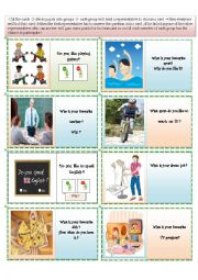 English Worksheet: flash cards for speaking activities