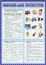 English Worksheet: Gerunds and Infinitives
