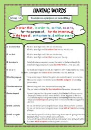 English Worksheet: LINKING WORDS (Conjunctions + Adverbs) Page - 10
