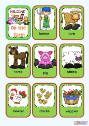English Worksheet: Farm animals flashcards