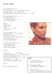 English Worksheet: Alicia Keys - Girl on Fire (Song worksheet)
