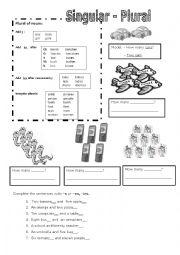 English Worksheet: Singular-plural worksheet