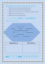 English Worksheet: violence at school (3)