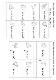 English Worksheet: Yes, it is. No, it isn�t (1)