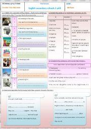 English Worksheet: English secondary schools 3