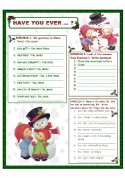 English Worksheet: Have you ever ... ?