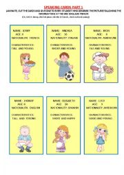 SPEAKING CARDS  FOR YOUNG LEARNERS (1/3)