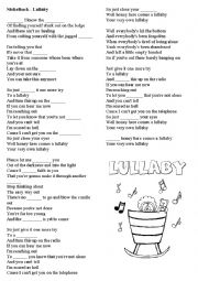 English Worksheet: Nickelback Lullaby song