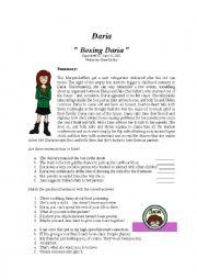 Boxing Daria worksheet