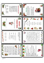 English worksheet: Christmas Mini Book