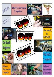 English Worksheet: Board-Game to teach phrasal verbs
