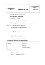 8th form test n1