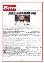 David Beckham to leave LA Galaxy (WITH KEY)