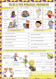 English Worksheet: To Be & The Personal Pronouns