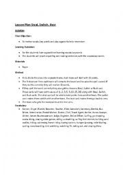 English Worksheet: Steal, Switch, Bust Lesson Plan
