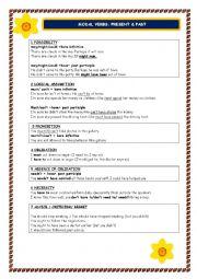 English Worksheet: MODAL VERBS: PRESENT & PAST