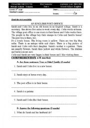 English Worksheet: AN ENGLISH POST OFFICE
