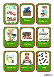 English Worksheet: Picnic flashcards