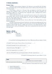 English Worksheet: end of term test first form tunisia