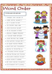 English Worksheet: Word Order