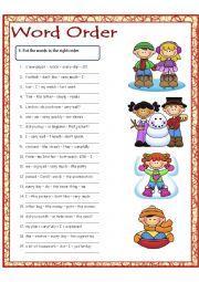 English Worksheet: Word Order