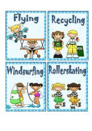 English Worksheet: FREE TIME ACTIVITIES 3 - FLASH CARDS