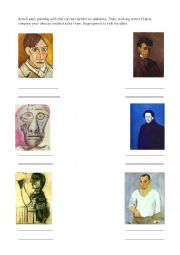 English Worksheet: Picasso�s self-portraits