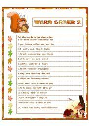 English Worksheet: Word Order 2