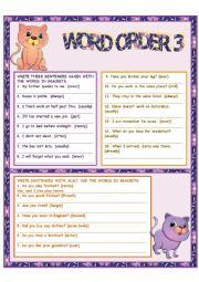 English Worksheet: Word Order 3