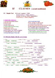 English Worksheet: If Clause-Second Conditional