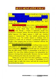 argumentative essay  (workig women) with useful linking words