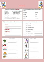 English Worksheet: SOME, ANY, COUNTABLE, UNCOUNTABLE, FOOD, SPORTS, CAN AND ADVERBS OF FREQUENCY