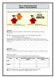 English Worksheet: virtual schools student�s worksheet